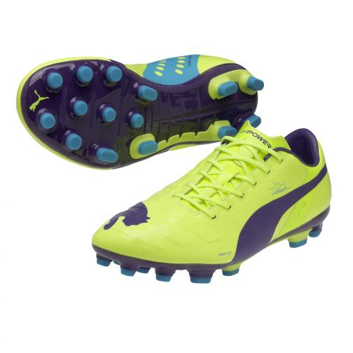 Puma Football Shoes Evopower 1 Ag fluro yellow-prism violet