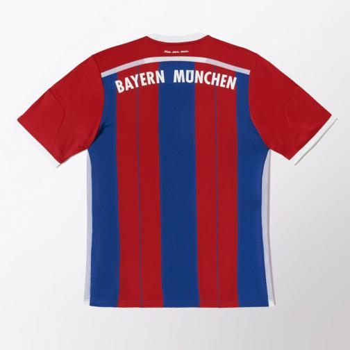 Adidas Shirt Home Bayern Monaco   14/15 Fcb True Red / Collegiate Royal / White Tifoshop