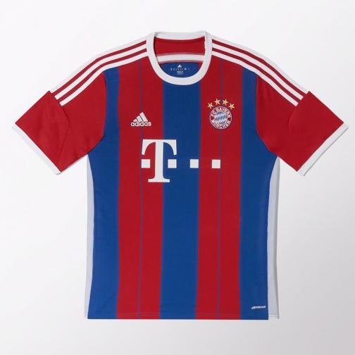 Adidas Shirt Home Bayern Monaco   14/15 Fcb True Red / Collegiate Royal / White