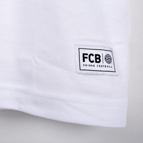 Adidas T-shirt Tempo Libero Bayern Monaco Bianco Rosso Tifoshop