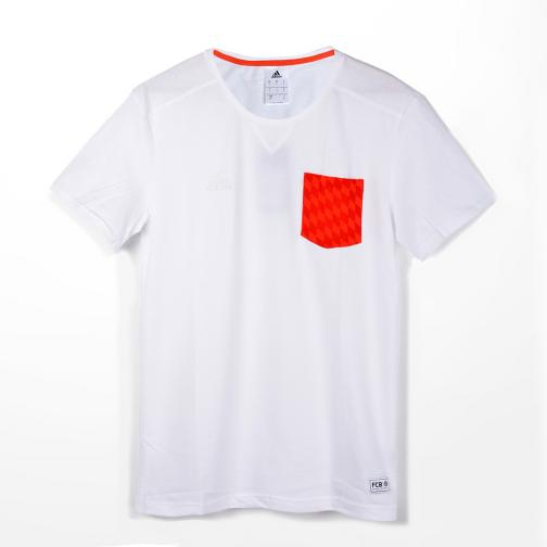 Adidas T-shirt Lifestyle Bayern Monaco white/fcb true red]