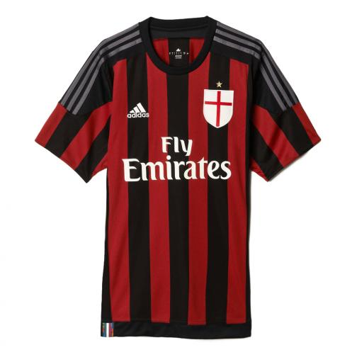 Adidas Maillot De Match Home Milan   15/16 RED AND BLACK