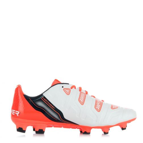 Puma Chaussures De Football Evopower 1.2 Fg white-total eclipse-fiery coral Tifoshop
