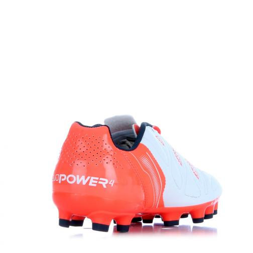 Puma Football Shoes Evopower 4.2 Ag Jr  Junior white-total eclipse-fiery coral Tifoshop