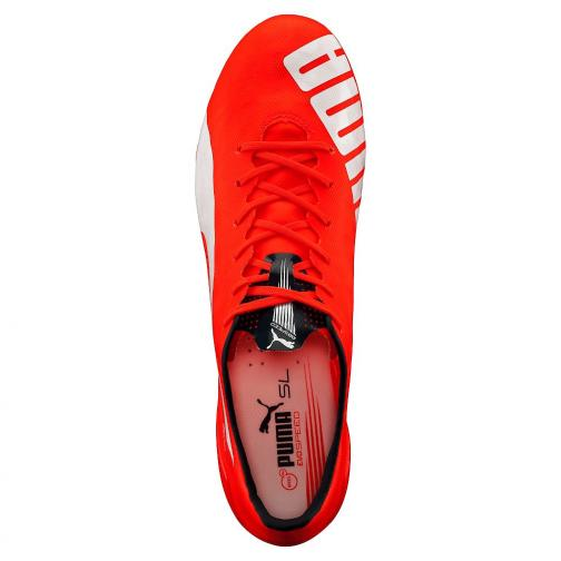 Puma Chaussures De Football Evospeed Sl Fg lava blast-white-total eclipse Tifoshop