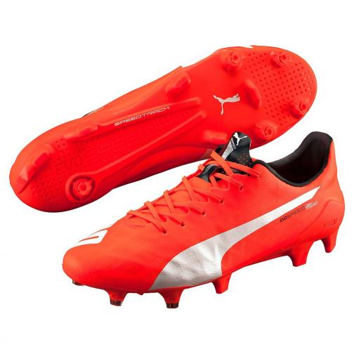 Puma Chaussures De Football Evospeed Sl Fg lava blast-white-total eclipse