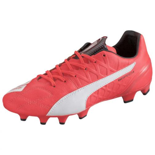 Puma Football Shoes Evospeed 3.4 Lth Fg lava blast-white-total eclipse Tifoshop
