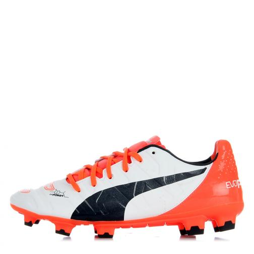 Puma Football Shoes Evopower 2.2 Fg white-total eclipse-fiery coral Tifoshop