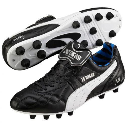Puma Football Shoes King Lothar Matthäus black-puma silver-blue