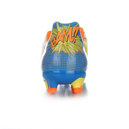 Puma Fußball-schuhe Evopower 2.2 Pop Fg white-orange clown fish-electric blue lemonade Tifoshop