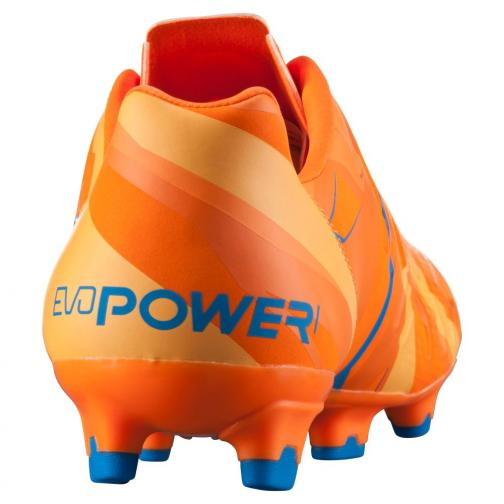 Puma Football Shoes Evopower 1 H2h Fg orange clown fish-electric blue lemonade Tifoshop