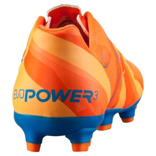 Puma Scarpe Calcio Evopower 3 H2h Fg Jr  Junior Arancione Blu Tifoshop
