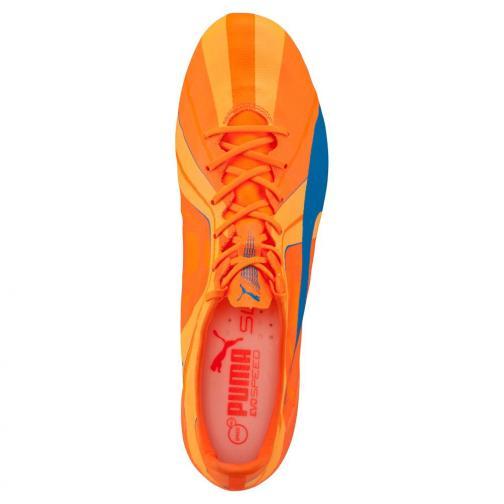 Puma Chaussures De Football Evospeed Sl H2h Fg orange clown fish-electric blue lemonade Tifoshop