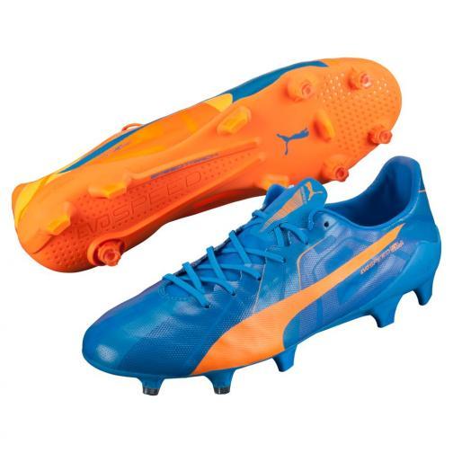 Puma Chaussures De Football Evospeed Sl H2h Fg orange clown fish-electric blue lemonade