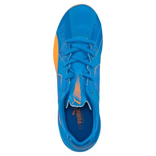 Puma Fußball-schuhe Evospeed 4 H2h Fg Jr  Juniormode orange clown fish-electric blue lemonade Tifoshop