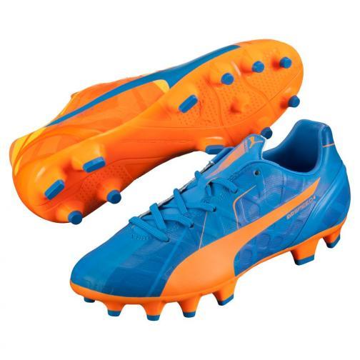 Puma Football Shoes Evospeed 4 H2h Fg Jr  Junior orange clown fish-electric blue lemonade