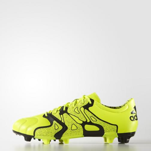 Adidas Chaussures De Football X15.2 Fg/ag Solar Yellow / Solar Yellow / Core Black