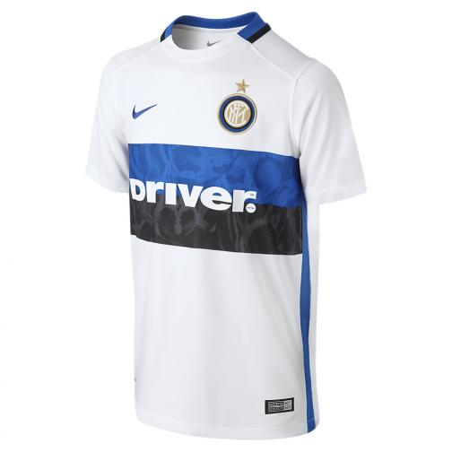 Nike Jersey Away Inter Junior  15/16 White Royal