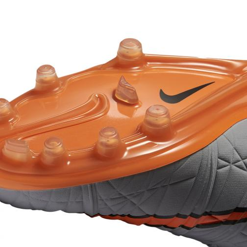 Nike Fußball-schuhe Hypervenom Phinish Ii Fg Grey Orange Tifoshop