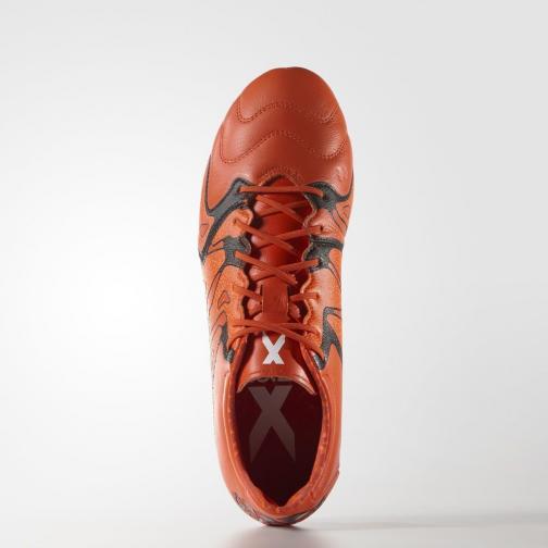 Adidas Chaussures De Football X 15.2 Fg/ag Leather bold orange/core black/solar orange Tifoshop
