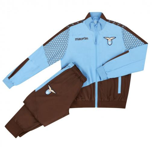 Macron Trainingsanzug Präsentation Lazio Blue Brown