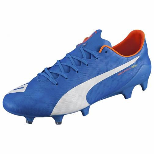 Puma Football Shoes Evospeed Sl Fg electric blue lemonade-white-orange clown fish Tifoshop