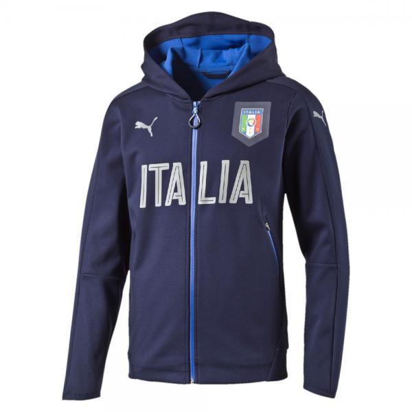 Puma Sweat Figc Casual Zip-thru Hoody Italy peacoat-team power blue