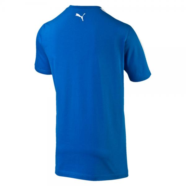Puma T-shirt Figc Fanwear Badge Tee Italy team power blue-white Tifoshop
