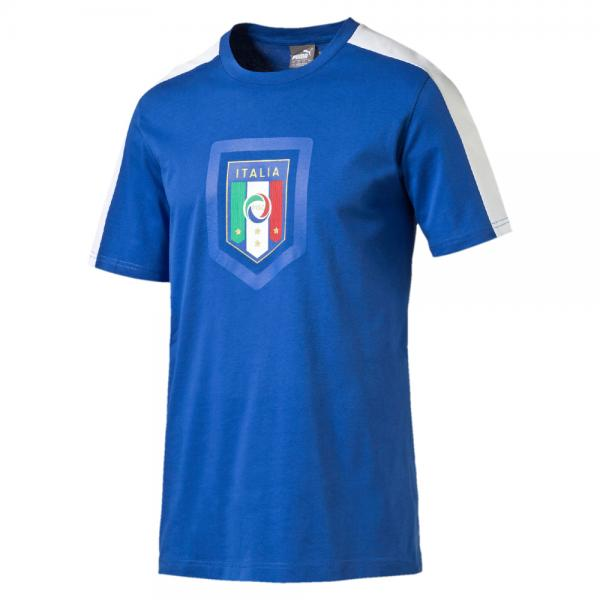 Puma T-shirt Figc Fanwear Badge Tee Italy team power blue-white