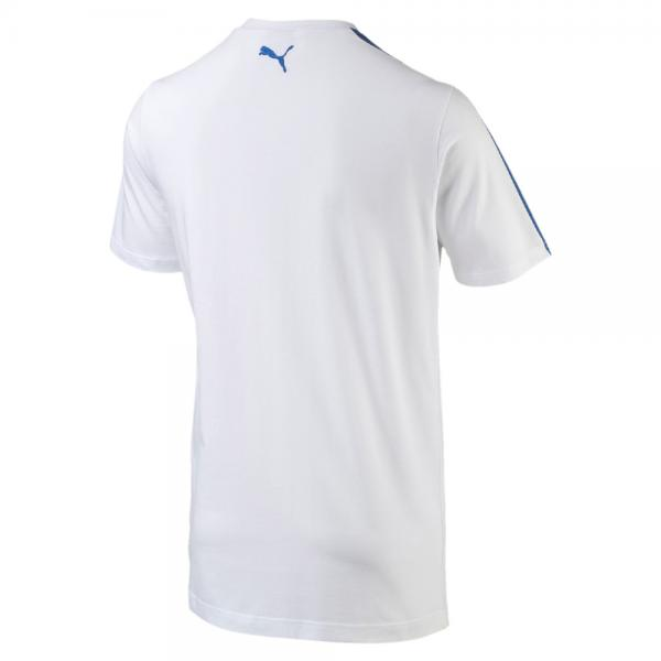 Puma T-shirt Figc Fanwear Badge Tee Italy white-team power blue Tifoshop