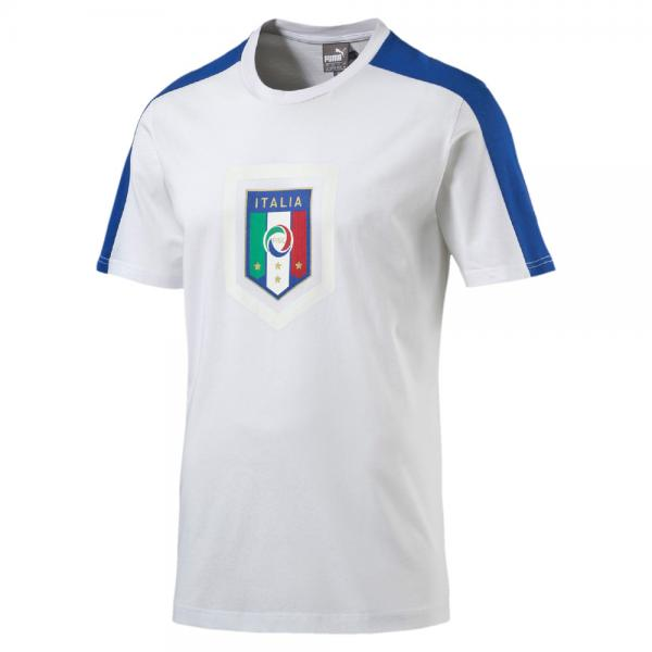 Puma T-shirt Figc Fanwear Badge Tee Italy white-team power blue