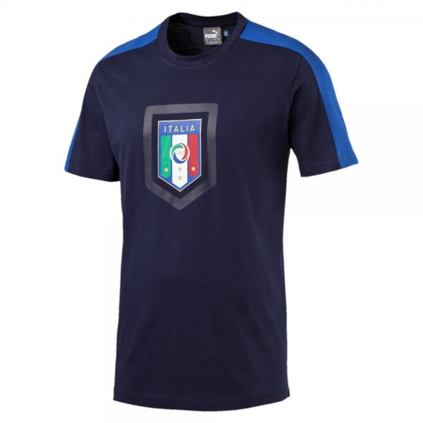 Figc  Fanwear Badge Tee peacoat-team power blue FIGC Store