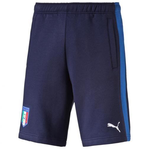 Puma Bermuda Figc Fanwear Bermudas Italy Enfant peacoat-team power blue