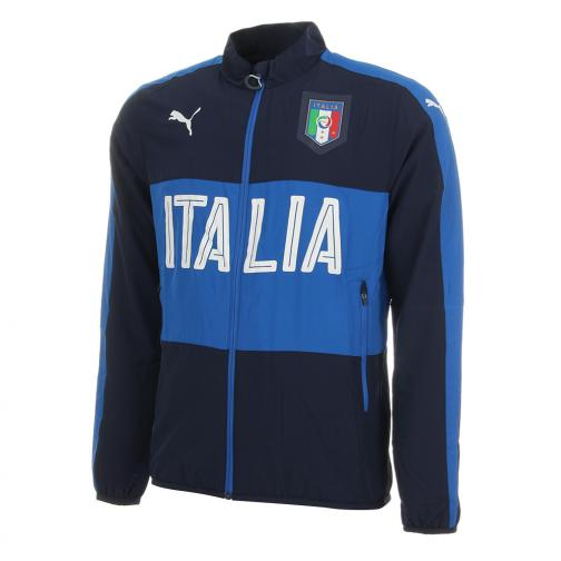 Puma Sweat Figc Woven Jacket Italy peacoat-team power blue