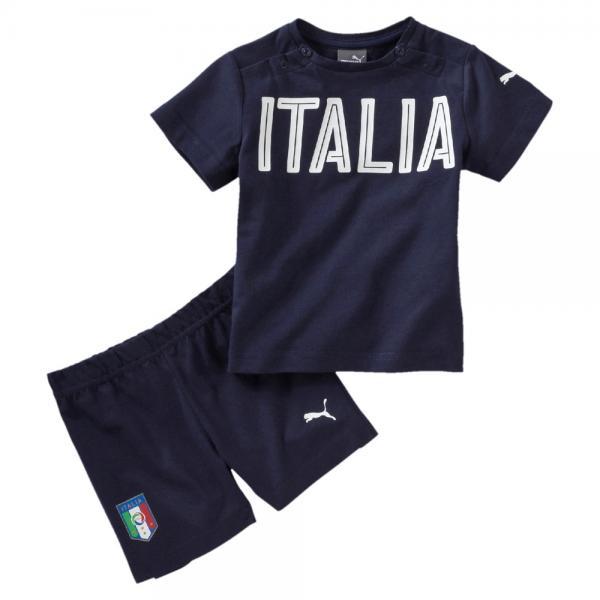 Puma Anzug Figc Set Italy Babymode peacoat