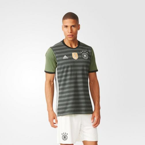 Adidas Maillot De Match Away Germany   16/18 Grey / Base Green Tifoshop