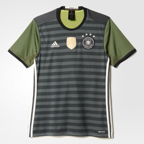 Adidas Maillot De Match Away Germany   16/18 Grey / Base Green