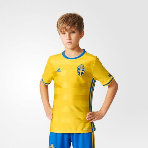 Adidas Jersey Home Sweden Junior  16/18 Yellow/Bright Royal