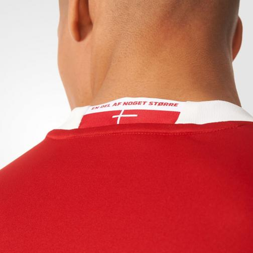 Adidas Maglia Gara Home Danimarca   16/18 Rosso Tifoshop