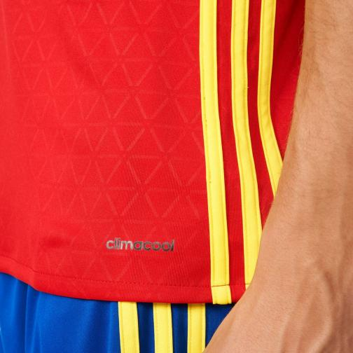 Adidas Maillot De Match Home Spain   16/18 Scarlet/Yellow Tifoshop