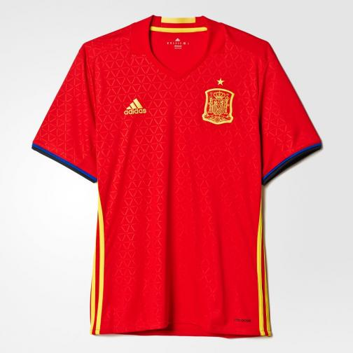 Adidas Maillot De Match Home Spain   16/18 Scarlet/Yellow