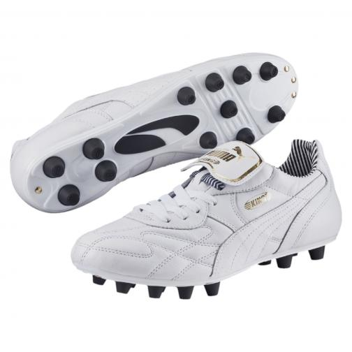 Puma Football Shoes King Top Stripe Di Fg white-white-new navy Tifoshop