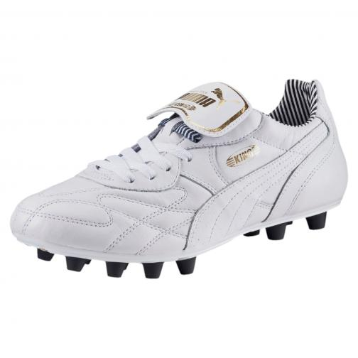 Puma Fußball-schuhe King Top Stripe Di Fg white-white-new navy