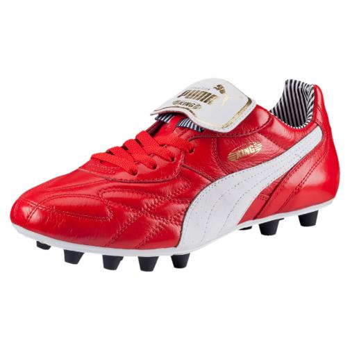 Puma Fußball-schuhe King Top Stripe Di Fg high risk red-white-new navy
