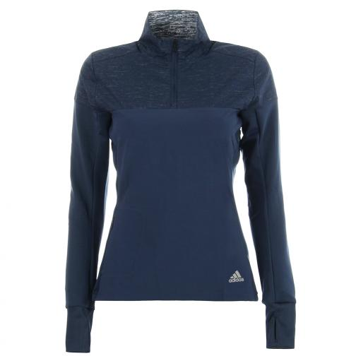 Adidas Sweater Supernova 1/2 Zip  Woman mineral blue Tifoshop
