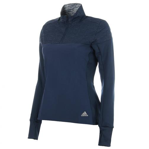 Adidas Sweater Supernova 1/2 Zip  Woman mineral blue