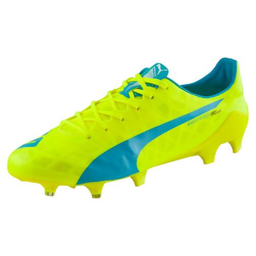 Football Shoes Evospeed Sl Fg safety yellow-atomic blue-white FIGC Store