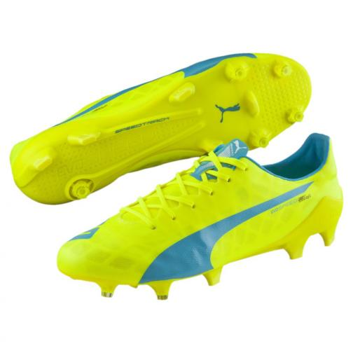 Puma Football Shoes Evospeed Sl Fg safety yellow-atomic blue-white