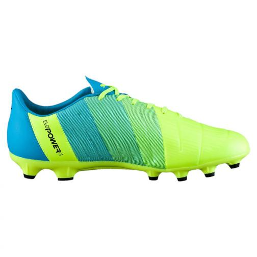 Puma Football Shoes Evopower 3.3 Ag safety yellow-black-atomic blue Tifoshop