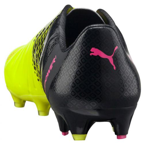 Puma Football Shoes Evopower 1.3 Tricks Fg pink glo-safety yellow-black Tifoshop